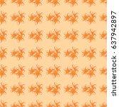 silk scarf with plumeria... | Shutterstock .eps vector #637942897