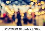 vintage tone blur image of... | Shutterstock . vector #637947883
