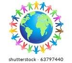 world brotherhood | Shutterstock .eps vector #63797440