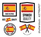 spain quality isolated label... | Shutterstock .eps vector #637986907