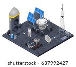space isometric concept with... | Shutterstock .eps vector #637992427