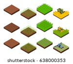 farm harvesting set with... | Shutterstock .eps vector #638000353