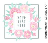 beautiful greeting card with... | Shutterstock .eps vector #638002177