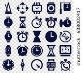 timer icons set. set of 25... | Shutterstock .eps vector #638002417