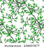 hand drawn seamless pattern... | Shutterstock .eps vector #638007877