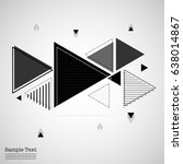 geometric flat design and... | Shutterstock .eps vector #638014867