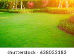 the morning sun shines on the... | Shutterstock . vector #638023183