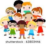 group of children | Shutterstock .eps vector #63803446