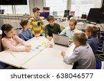 education  children  technology ... | Shutterstock . vector #638046577