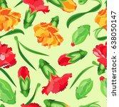 vector seamless pattern of... | Shutterstock .eps vector #638050147
