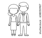 sketch silhouette faceless... | Shutterstock .eps vector #638050987