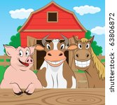 vector illustration of pigs... | Shutterstock .eps vector #63806872