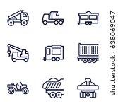 trailer icons set. set of 9...   Shutterstock .eps vector #638069047