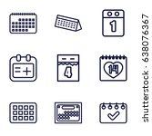 appointment icons set. set of 9 ... | Shutterstock .eps vector #638076367
