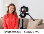 blogging  technology  videoblog ... | Shutterstock . vector #638079793