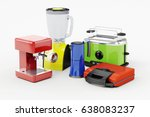 3d set of home appliances on... | Shutterstock . vector #638083237