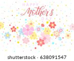 happy mothers day typography... | Shutterstock .eps vector #638091547