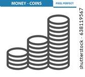 money   coins icon.... | Shutterstock .eps vector #638119567