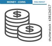 money   coins icon.... | Shutterstock .eps vector #638126017
