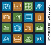 baggage icons set. set of 16... | Shutterstock .eps vector #638126167