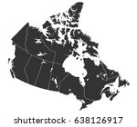 detailed map of canada in high... | Shutterstock .eps vector #638126917