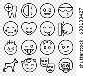 smile icons set. set of 16... | Shutterstock .eps vector #638133427