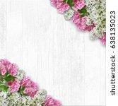 vintage white wooden background ... | Shutterstock . vector #638135023