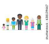 mixed black family.... | Shutterstock .eps vector #638139667