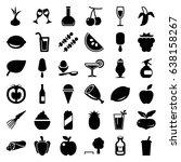 fresh icons set. set of 36... | Shutterstock .eps vector #638158267