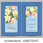 wedding invitation template.... | Shutterstock .eps vector #638170147