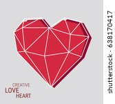 creative heart frame with... | Shutterstock .eps vector #638170417