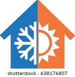 heating and cooling | Shutterstock .eps vector #638176807