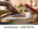 thailand stir fried ice cream... | Shutterstock . vector #638178733