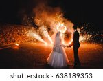 wedding fire show and fire... | Shutterstock . vector #638189353