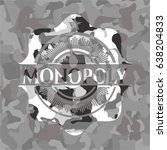monopoly on grey camouflage... | Shutterstock .eps vector #638204833