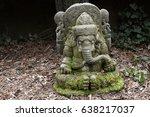 ancient ganesha statue made of... | Shutterstock . vector #638217037