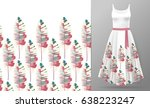 vector seamless pattern with... | Shutterstock .eps vector #638223247