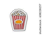 popcorn doodle icon | Shutterstock .eps vector #638228257