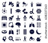 science icons set. set of 36... | Shutterstock .eps vector #638237263