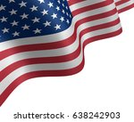 Usa Flag Waving In The Wind. ...