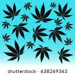 leaf   illustration marijuana  ... | Shutterstock .eps vector #638269363
