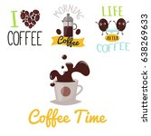 coffee badge food design hand... | Shutterstock .eps vector #638269633