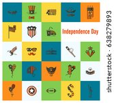 4th of july  independence day... | Shutterstock .eps vector #638279893