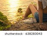 beautiful legs of sexy woman... | Shutterstock . vector #638283043