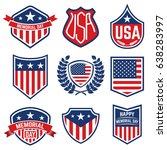 set of the emblems with... | Shutterstock .eps vector #638283997