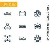 car outline icons set.... | Shutterstock .eps vector #638287057