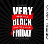 black friday sale inscription...   Shutterstock . vector #638297647