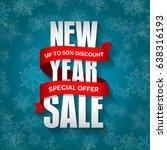 new year sale badge  label ... | Shutterstock . vector #638316193