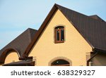 roofing construction house... | Shutterstock . vector #638329327
