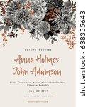 wedding invitation. summer and...   Shutterstock .eps vector #638355643